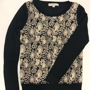 LOFT Gold/Black Sweater